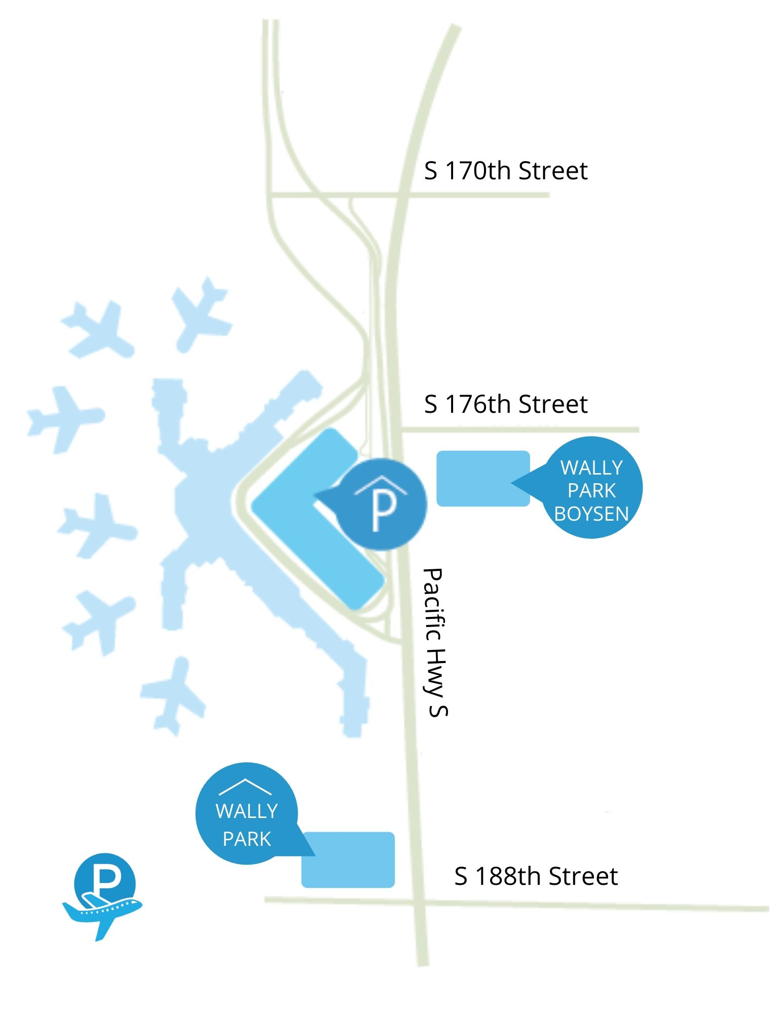 Seatac parking map