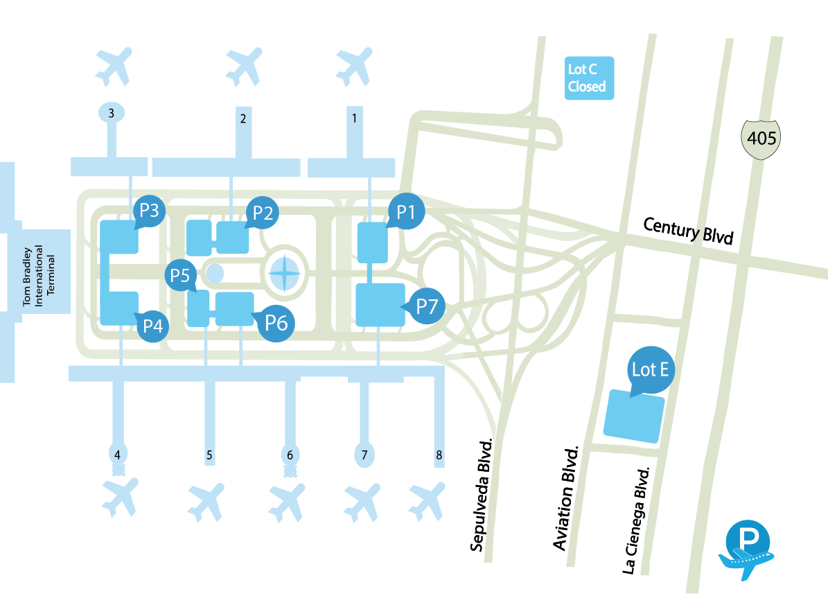 LAX parking map